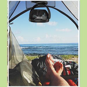 ventiladores para viajes y camping