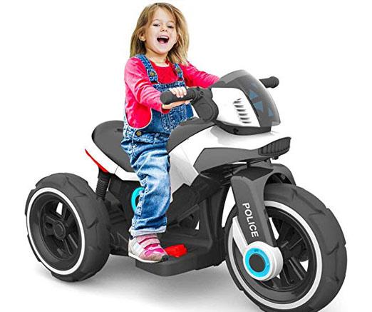 moto para niños tipo futurista a baterias