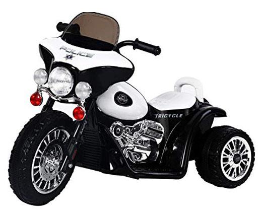 moto electrica estilo policia para niños