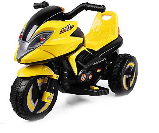 moto con asiento mas espaldar. Electrica a baterias de 6v y luces led.