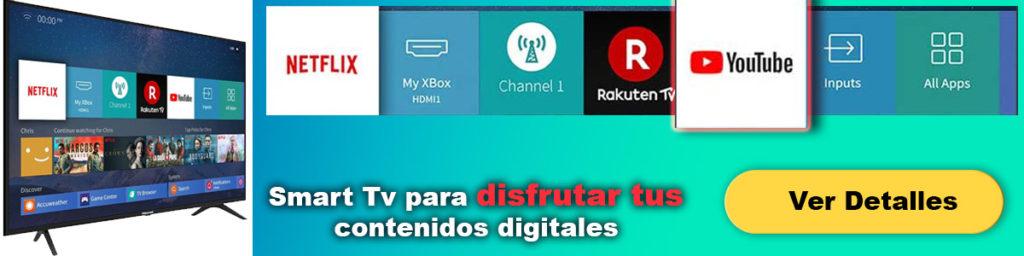smart tv para ver youtube en la tele