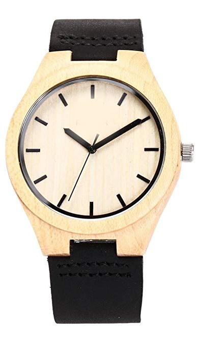 Reloj de Madera de bambú regalo para Hombre