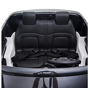 range rover para niños con cinturon de seguridad y asientos de cuero