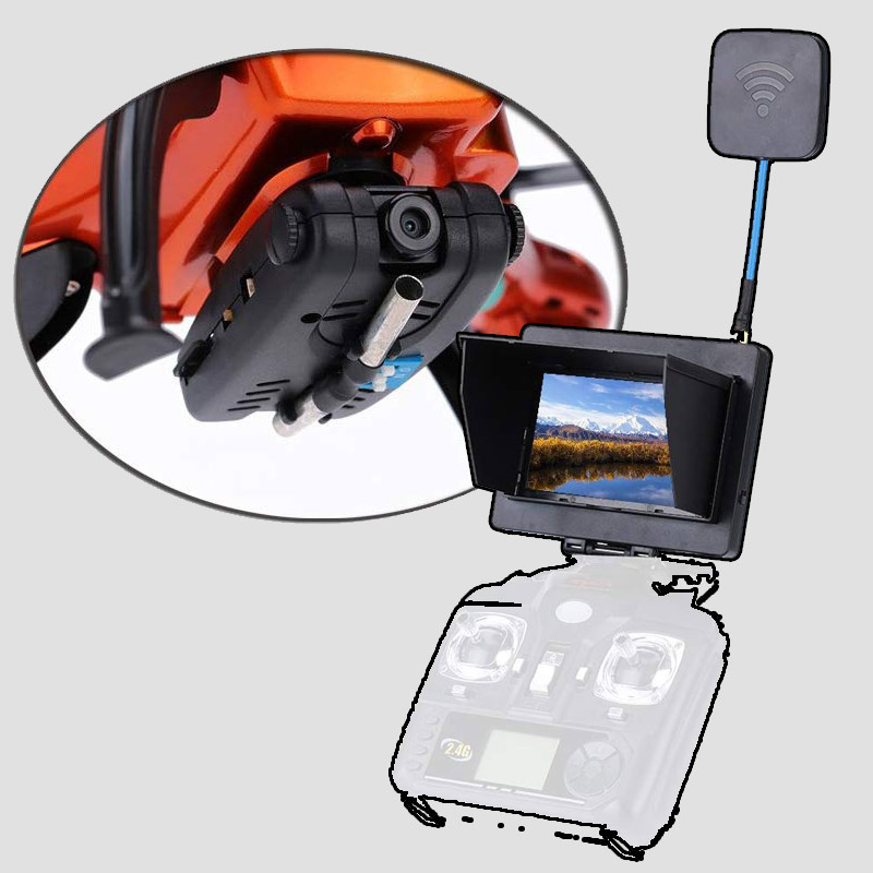 sistema FPV para transmitir imágenes del dron en tiempo real