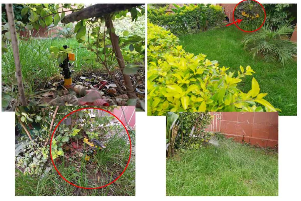 instalacion de aspersor para riego automatico de jardin