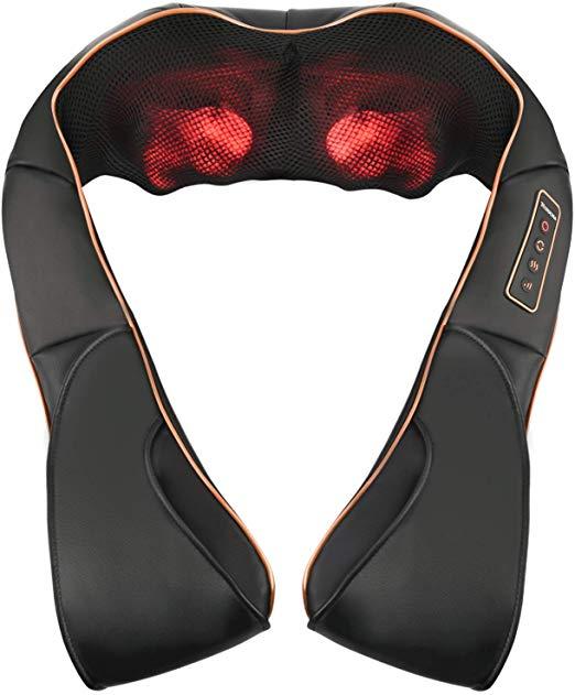 masajeador para aliviar el dolor de cuello y espalda por el ordenador