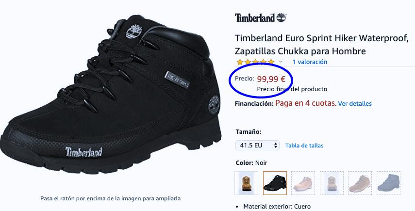 botas Euro Sprint marca Timberland a buen precio