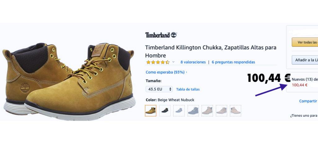 precio de oferta en botas Timberland Killington Chukka