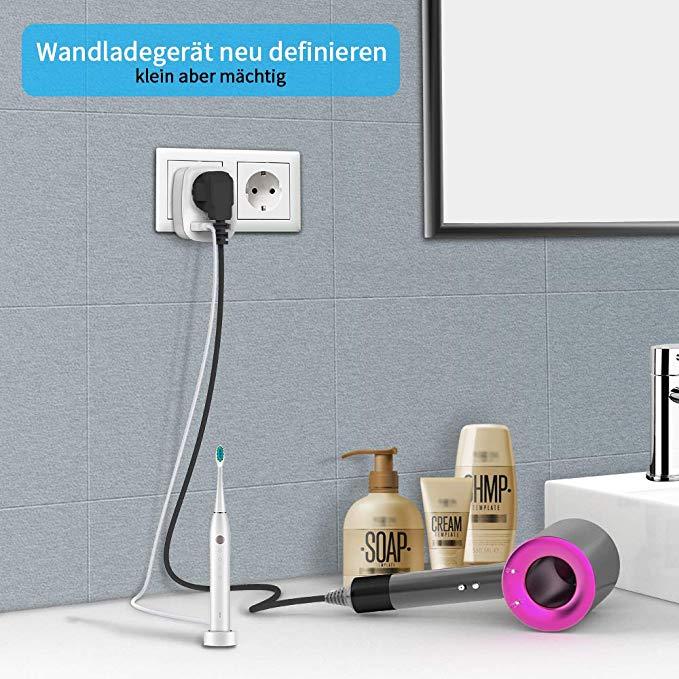 enchufe con usb para cargar cepillo de dientes y cualquier dispositivo electronico