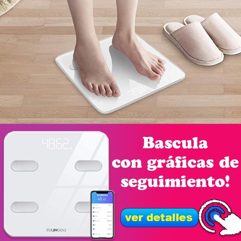 báscula que mide grasa corporal