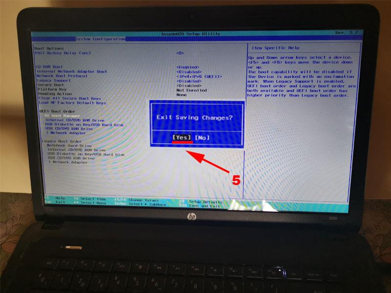 paso 5 como arrancar windows desde disco ssd para mejorar el rendimiento de windows