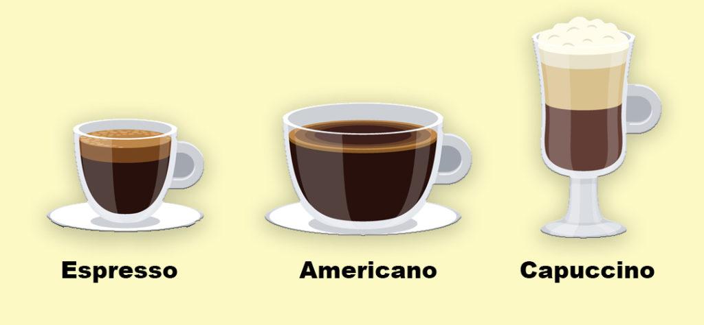 como servir cafe americano, espresso o capuccino con una cafetera italiana