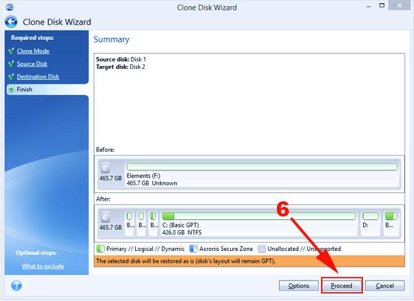 paso 6 para clonar el disco duro sin perder windows