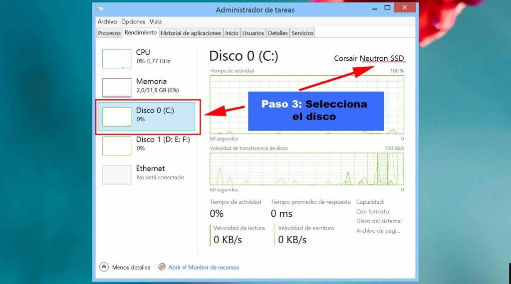 paso 3 para saber si tu disco es ssd en windows