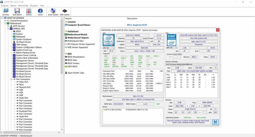 informe de hardware de HWInfo