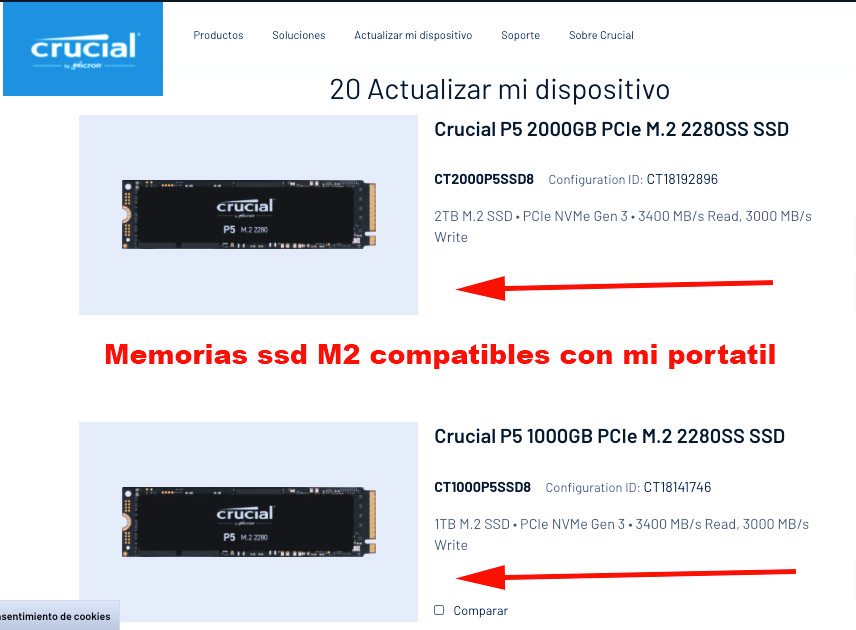 memorias ssd m2 compatibles con alienware 15 r4