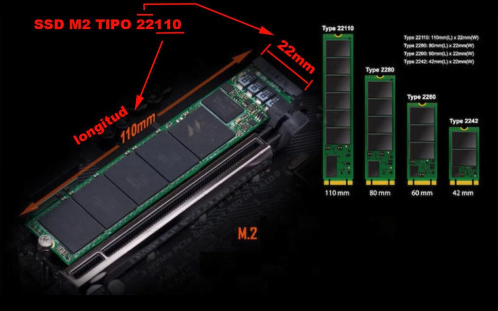 tipo y tamaños de las memorias ssd m2