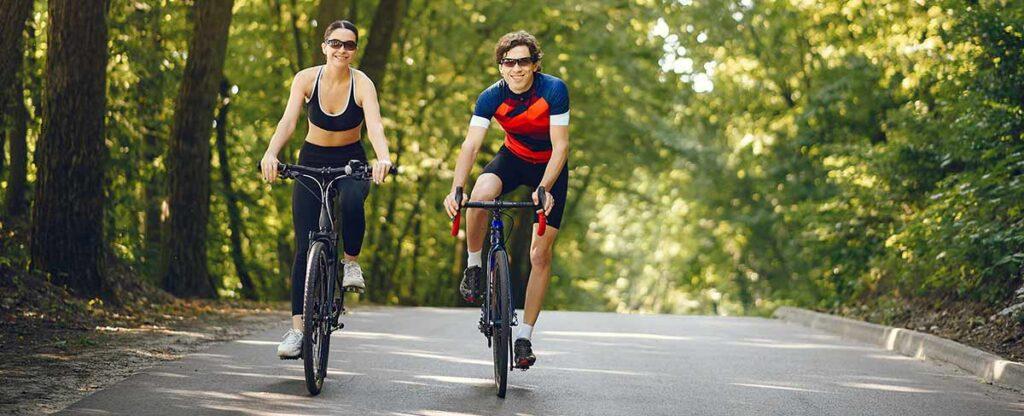correr versus hacer bicicleta